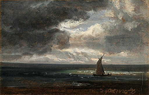 Johan Christian Dahl - Sailing-boat under Storm-clouds - Sjekte med seil - KODE Art Museums and Composer Homes - BB.M.00455