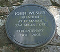 John Wesley 1787 pliaque Sainte Mathie Jèrri.jpg