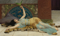 John William Godward - Girl in Blue.png