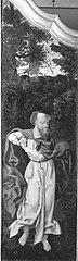 Beweinungstriptychon: Hl. Matthias Rückseite: Maria der Verkündigung
