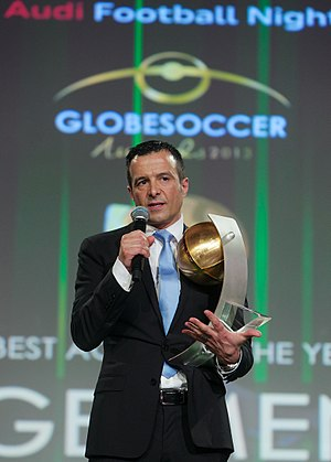 Globe Soccer Awards - Jorge Mendes with the Best Agent of the Year award (2013)