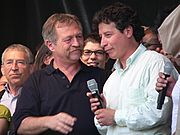 2007 French presidential election, Evo Morales supported José Bové, an altermondialist candidate; here Bové is at a meeting with Morales' envoy, Bolivian elected official César Navarro Miranda