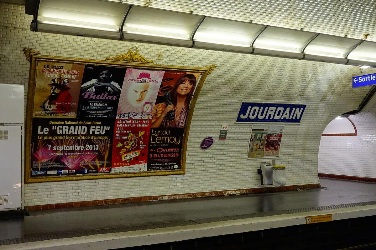 Jourdain (Paris Métro) - Wikipedia