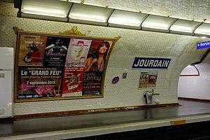 Jourdain (Paris Métro) - Image: Jourdain, Paris
