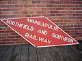 Jrb Minneapolis Northfield and Southern Railway sign 20071024.JPG