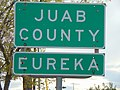 Juab County and Eureka, Utah signs on US-6, May 16.jpg