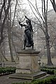Juliusz Slowacki Memorial (Lilla Weneda monument), 1885 by sculptor Alfred Daun, Planty Garden, Old Town, Krakow, Poland.JPG