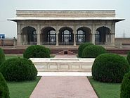 July 9 2005 - The Lahore Fort-Front center view of hall of special audience
