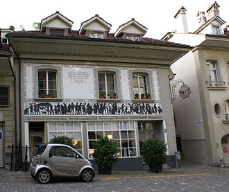 Friedrich Traffelet - Friedrich Traffelet's atelier on Junkerngasse 22, Berne.