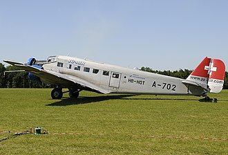 2018 Ju-Air Junkers Ju 52 crash - HB-HOT, the Ju 52 involved in the accident, photographed in 2009