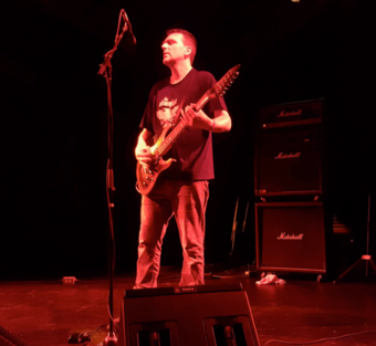 Broadrick performing with Godflesh in 2016 Justin Broadrick performing with Godflesh.png