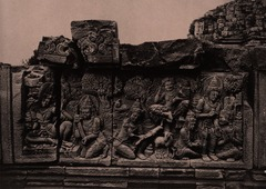 KITLV 155176 - Kassian Céphas - Reliefs on the terrace of the Shiva temple of Prambanan near Yogyakarta - 1889-1890.tif
