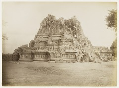 KITLV 29215 - Céphas - Shiva Temple with on the stairs photographer Kassian Céphas, Prambanan - Around 1895.tif