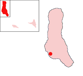 Mitsoudjé - Location of Mitsoudjé on the island of Grande Comore
