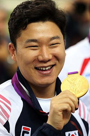 South Korea at the 2012 Summer Olympics - Jin Jong-Oh defends his Olympic title in pistol shooting.