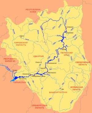 Vishera River (Perm Krai) - Image: Kama basin