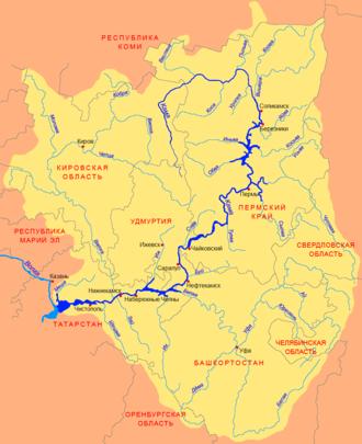Sylva River - Image: Kama basin