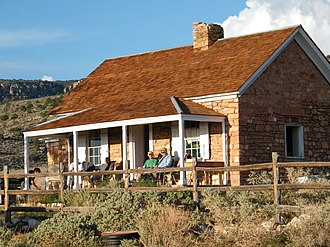 Arizona Strip - Cabin on the historic Kane Ranch, a conservation project of the Grand Canyon Trust.