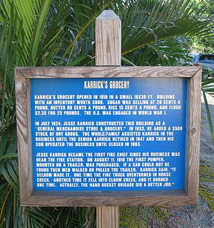 Karrick Building (Eau Gallie, Florida) - Image: Karrick Building (Eau Gallie, Florida) Historical Marker 1