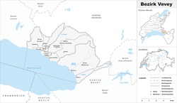 Vị trí của Huyện Vevey