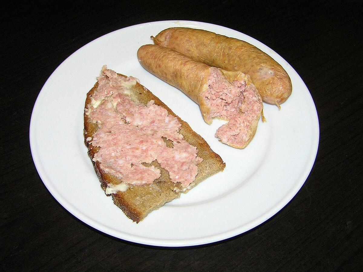 Saucisse aux pommes de terre wikip dia - Pomme de terre farcie chair a saucisse ...