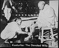 Kasturba washing Gandhi's feet.jpg