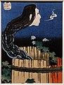Katsushika Hokusai, il fantasma di okiku alla tenuta di sara, dalla serie 100 storie di fantasmi, 1831-32 ca.jpg