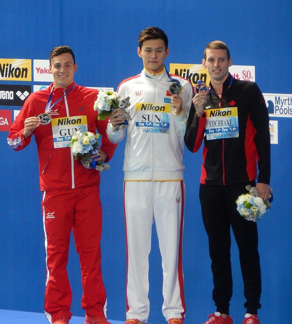 Kazan 2015 - Victory Ceremony 400m freestyle M