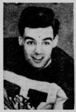 Kelly Burnett - Kelly Burnett pictured with the Victoriaville Tigers, circa 1947