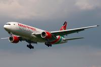 Kenya Airways Boeing 777-200ER 5Y-KYZ LHR 2009-8-8.png