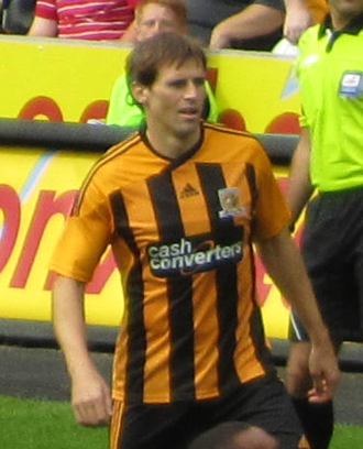 Kevin Kilbane - Kilbane playing for Hull City in 2011