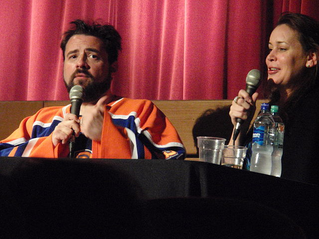 Kevin Smith and Jennifer Schwalbach in 2011.jpg