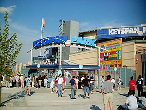 MCU Park - The stadium as KeySpan Park in 2001.
