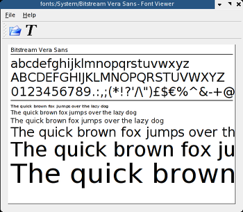 English: Screenshot of KDE font viewer taken w...