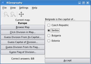 "KGeography - KGeography ""Guess Division From Its Capital"" mode"