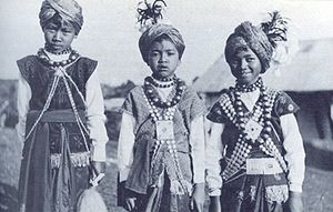 Khasi people - Khasi children, 1944