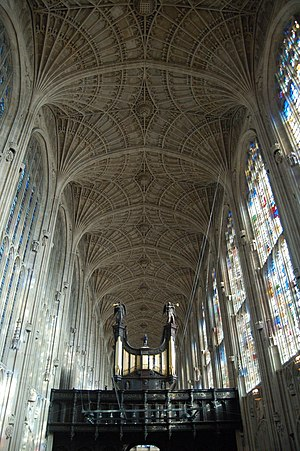John Wastell - Image: King's college chapel roof and organ