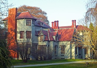 Bellevue Avenue Historic District - Kingscote, the first Newport summer mansion
