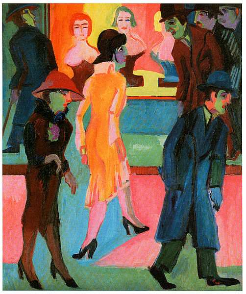 File:Kirchner - Straßenbild vor dem  Friseurladen - 1926.jpg