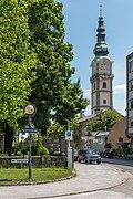 Klagenfurt Innere Stadt Purtscherstraße Glockenturm hl. Egid 18052020 8969.jpg