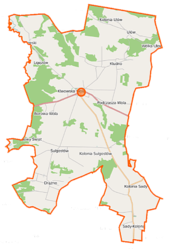 Klwów (gmina) location map.png