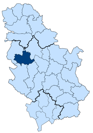 Districts of Serbia - Image: Kolubarski okrug