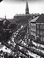 Kong Christian X og Dronning Alexandrine forlader Christiansborg efter åbningen af Rigsdagen (5712425385).jpg
