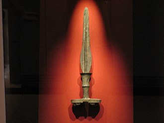History of Korea - Korean Bronze Age sword. Seoul, National Museum of Korea