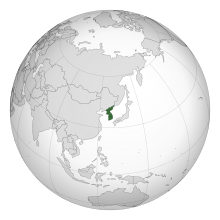 Korea (orthographic projection).svg