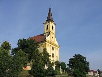 Stupava, Malacky District - Image: Kostol v Máste