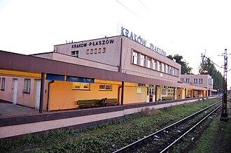 Płaszów - Kraków-Płaszów train station along the PKP rail line 112