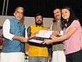 "Krishan Pal, Shri Vijay Sampla and Shri Ramdas Athawale at the presentation ceremony of the ""National Merit Awards"" to Meritorious Students of Secondary and Senior Secondary School Examination – 2016 (1).jpg"