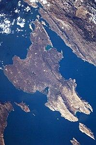 Satellitenbild von Krk