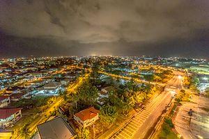 Kuala Belait: Kuala Belait at Night (18623608099)